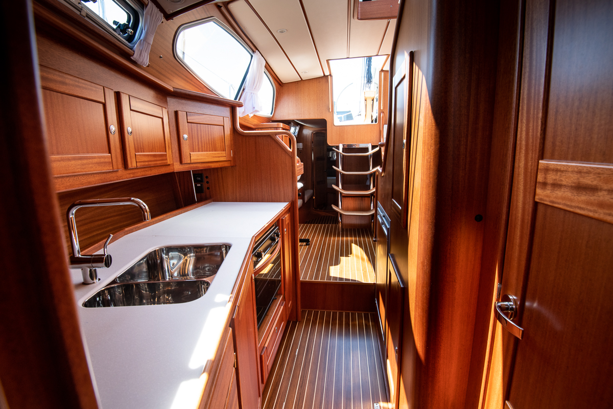 Pantry of a Nordship 380 deck saloon