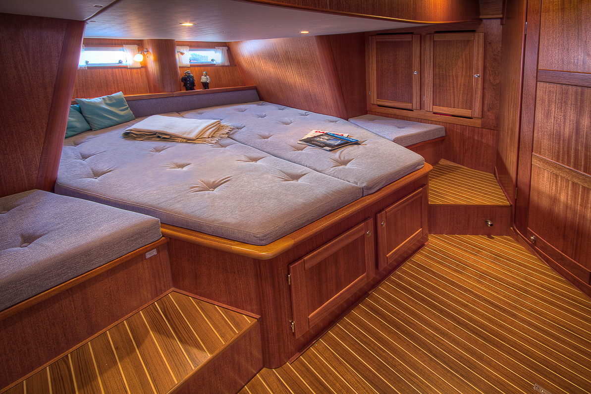 Owners cabin of a custom built Nordship