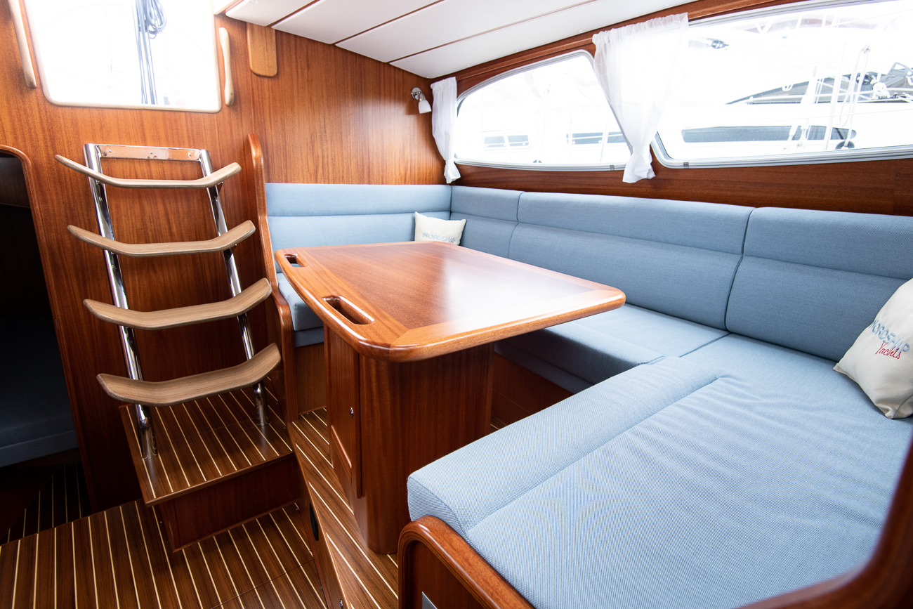 Interior of a Nordship 360 deck saloon