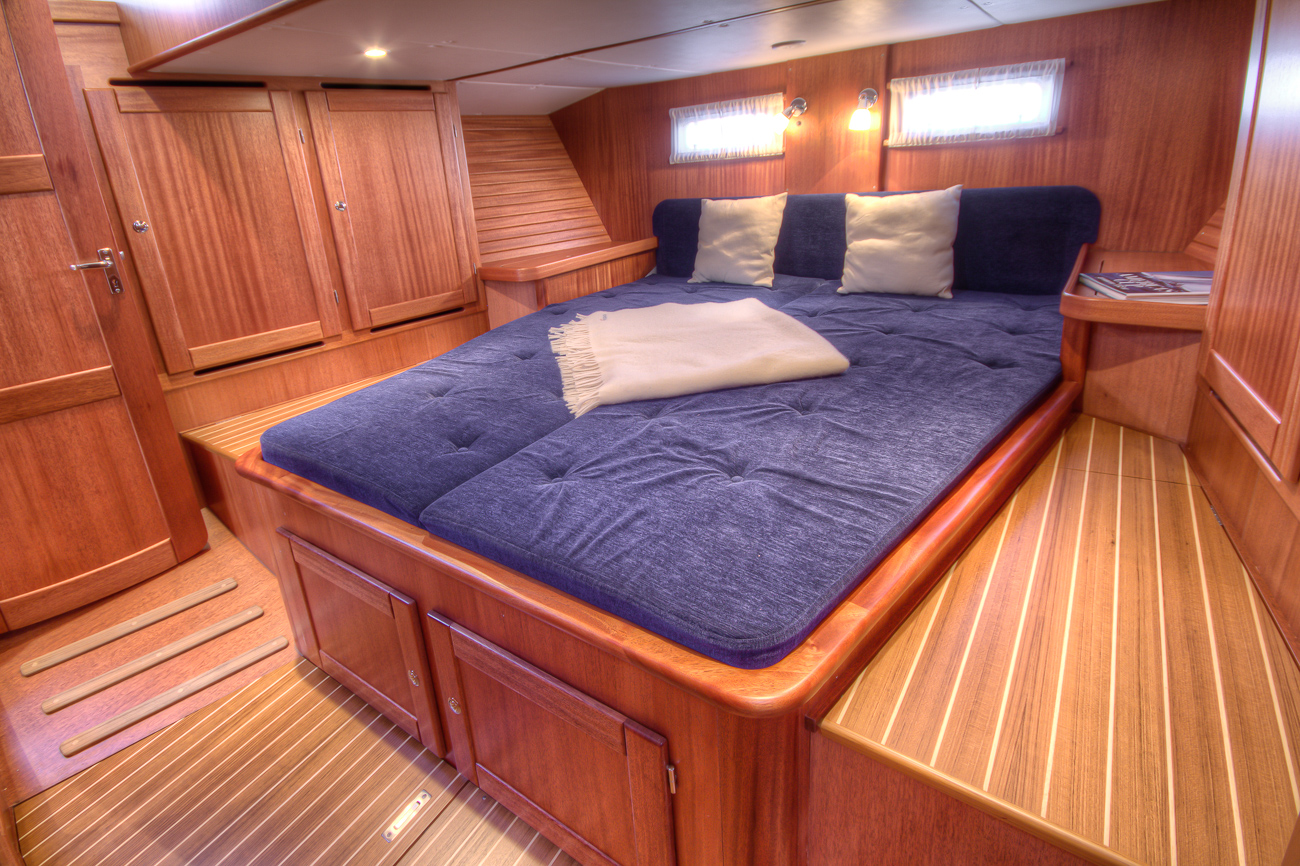 Aft cabin of a Nordship 40 deck saloon