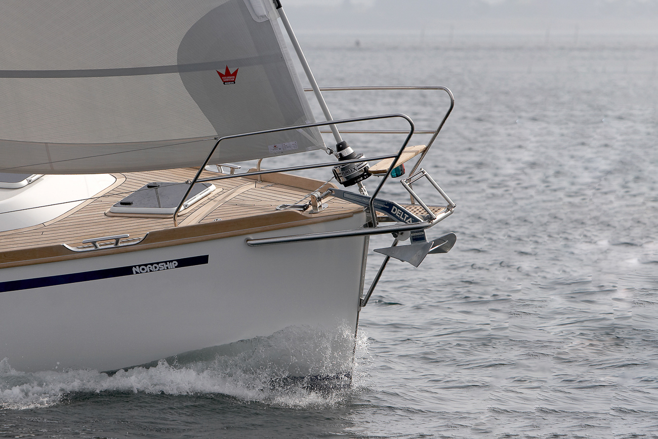 Brilliant sailing qualities af a Nordship 40 deck saloon