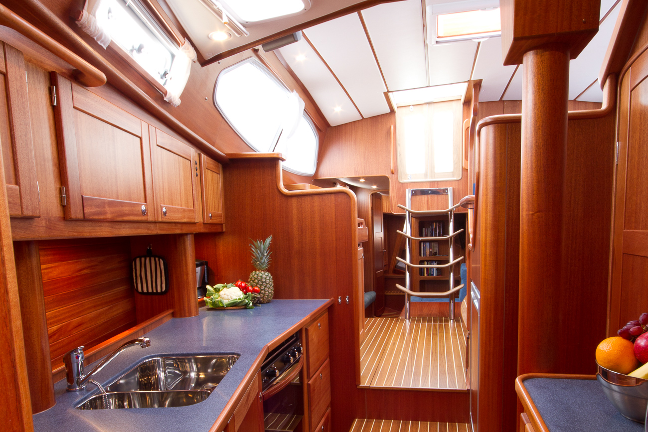 The pantry of a Nordship 40 deck saloon