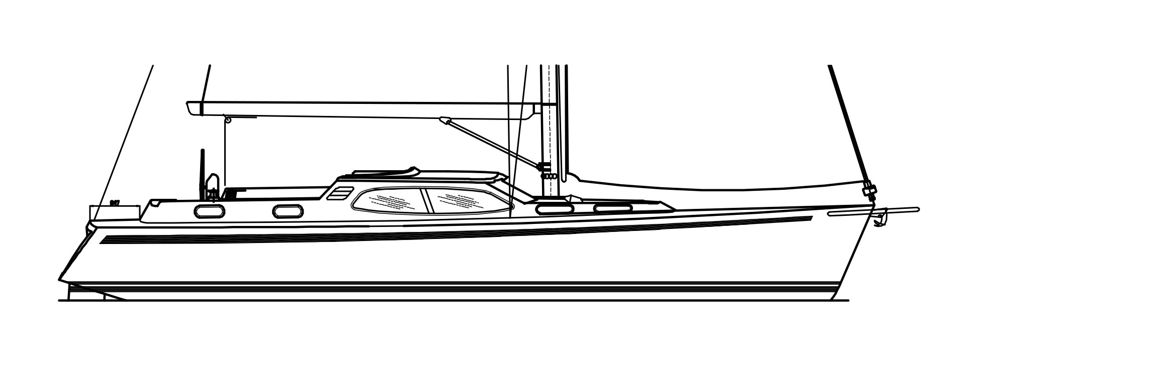 Nordship 46 deck saloon costum design
