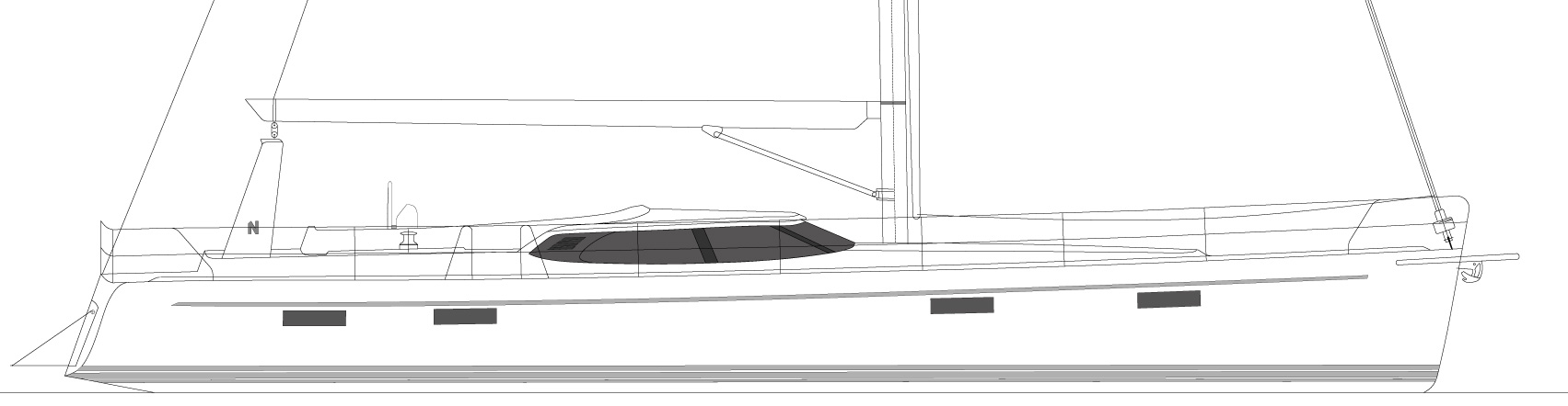 Nordship 56 deck saloon custom design