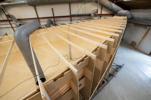 Construction of the Nordship 570 DS hull mould