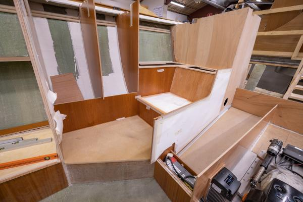The interior construction of the Nordship 570 DS is progressing
