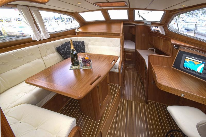 Inside a Nordship 380 deck saloon