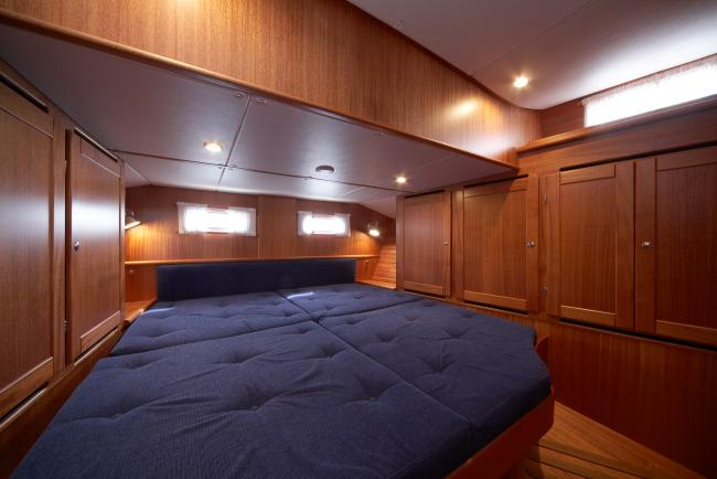 The aft cabin of a Nordship 380 deck saloon
