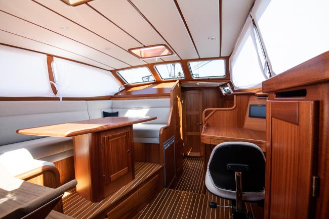 Inside a Nordship 380 deck saloon