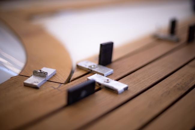 Nordship craftsmanship - teakdeck under construction