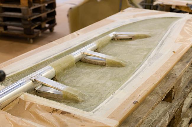 Nordship craftsmanship - rudder casting