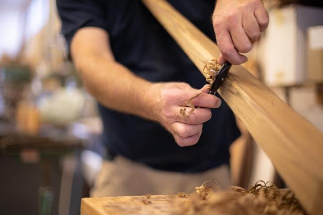 Nordship craftsmanship - handcrafted tiller