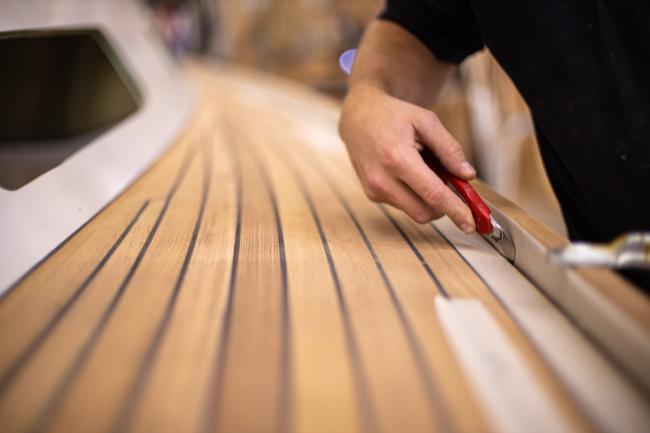Nordship craftsmanship - mounting a teak deck